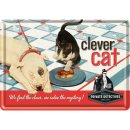 Clever Cat - Blechpostkarte